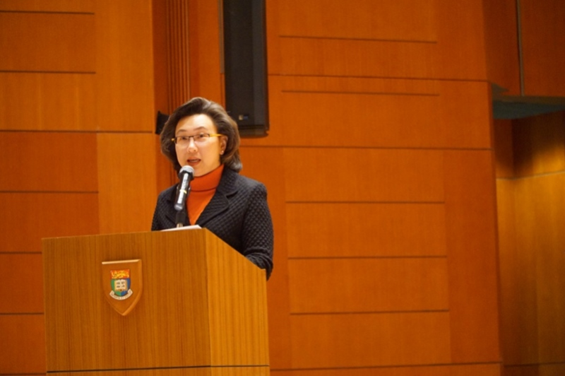 Mrs. Ingrid Yeung Ho Poi-Yan, JP, Permanent Secretary for Education, Education Bureau, delivered a speech.