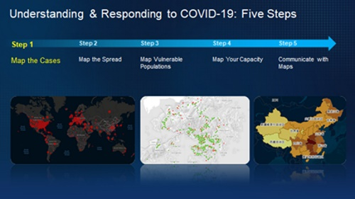 Five steps are developed with GIS to fight COVID-19